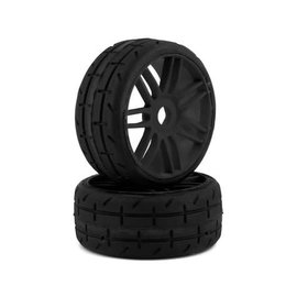 GRP Tyres GRPGTX01-S3  Belted Pre-Mounted 1/8 Buggy Tires (Black) (2) (S3)