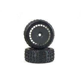 Arrma ARA550097  Black dBoots Katar T Belted 6S Tire Set (2)