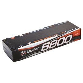 Maclan Racing HADMCL6020  Maclan 2S 7.6v 6800mAh 120C HV LCG LiPo w/ 5mm Bullets