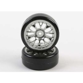 Tamiya TAM54021  24mm SD Drift Tech Tires w/ Mesh Wheels (2(