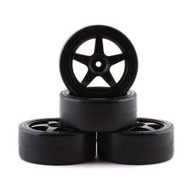Tamiya TAM9400564  26mm Black Pre-Mounted Drift Tires (4)