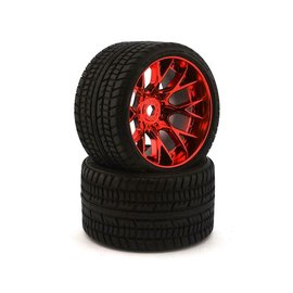 SWEEP C1001RC  Red Road Crusher Monster Truck 17mm Belted Tire (2)