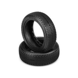 """J Concepts JCO3108-010  JConcepts Fuzz Bite LP Carpet 2.2"""" 1/10 4WD Buggy Front Tires (2) (Pink)"""