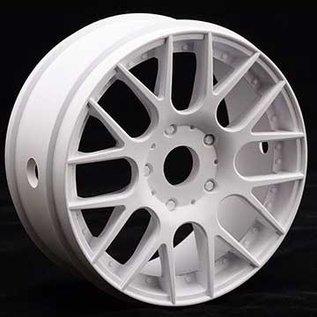SWEEP 40145E415  1:8th GT Belted Slick EXP 45deg Soft On White EVO16 Spoke Rim (2)