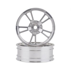 "SSD SSD00470  Chrome Silver Front 2.2"" V Spoke Drag Racing Wheels (2)"