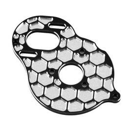 "J Concepts JCO2910-2  (BLACK)  JConcepts DR10/SR10 +2 Aluminum ""Honeycomb"" Motor Plate"