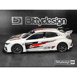 Bittydesign BDYFWD-190HCF  Bittydesign HC-F FWD Touring Car Body (Clear) (190mm)