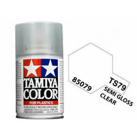Tamiya TAM85079  TS-79 Semi Gloss Lacquer Spray Paint (Clear) (100ml)