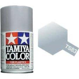 Tamiya TAM85083  TS-83 Metallic Silver Lacquer Spray Paint (100ml)