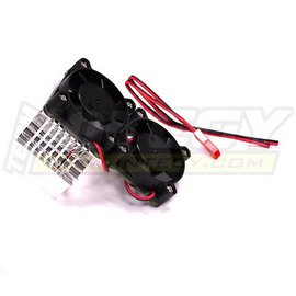 Integy C23137SILVER Silver Motor Heatsink+Twin Cooling Fan