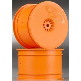 DE Racing DER-SB-ARO Speedline Orange Buggy Rear Wheels for B6.1 - B6.1D / RB6 / 22