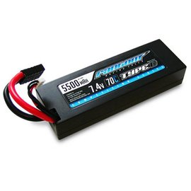 Fantom Racing Com Series 5500mAh LiPo 70C, 7.4v