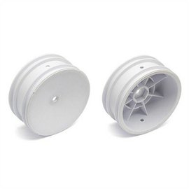 "Team Associated ASC9690  White Buggy 2.2"" Front 12mm Hex Wheels for B6 B6.1 B6.2 (2)"