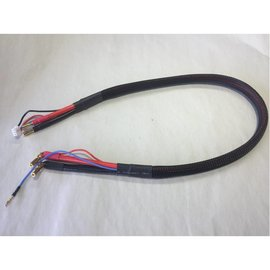 "Michaels RC Hobbies Products Hi Amp Charge lead with 10 awg, 24"" wire with a black outer wire jacket"
