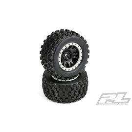 Proline Racing PRO10131-13  Badlands MX43 Pro-Loc Mnt Impulse Blk,Grey(2):XMX