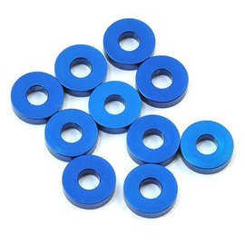 Team Associated ASC31386  Bulkhead Washers (10) 7.8x1.0mm Blue Alum TC7 F6 B6/D B6.1/D R5