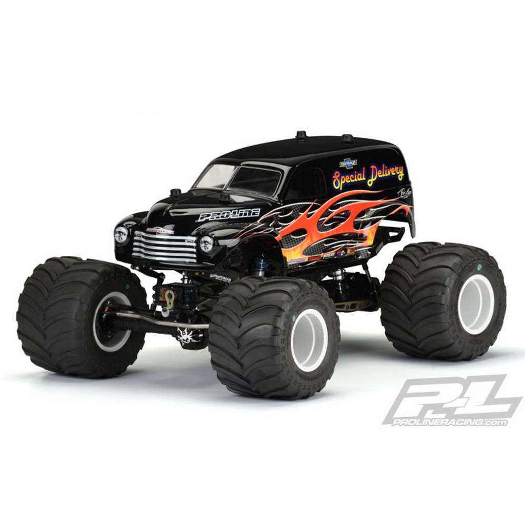 Proline Racing PRO3107-01 Early 50's Chevy Panel Truck Body, for Solid Axle  Monster Trucks