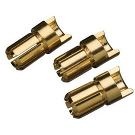 Great Planes GPMM3116 Gold Plated Bullet Connector Male 6mm (3)