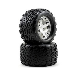 "Traxxas TRA3668  Talon Tires on All-Star Chrome Wheels 2.8"" (2)"