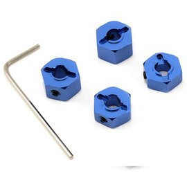 STRC SPTST3654-12B  Blue 12mm Aluminum Lock Pin Style Wheel Hex Set (4)