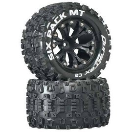 Duratrax DTXC3522  Sixpack Mounted 2.8 C2 Tires & Wheels for the Front 1/2 Offset (2)