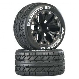 Duratrax DTXC3540 Bandito ST 2.8 C2 Truck 2WD Mounted Front 1/2 Offset Black (2)