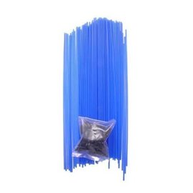 Racers Edge Blue Colored Antenna Tubes W/Caps (1)