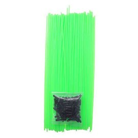 Racers Edge RCE1001 Green Colored RC Antenna Tubes W/Caps (1)