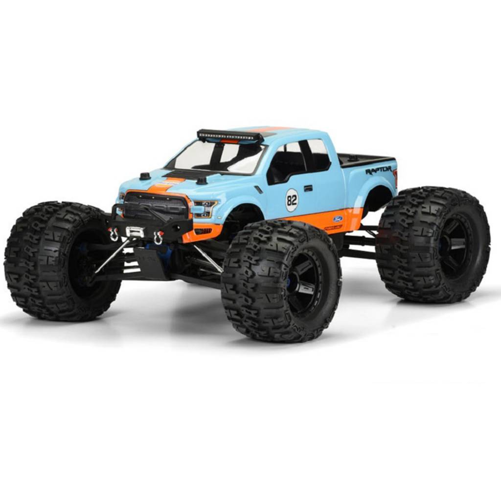 Proline Racing PRO3468-00 2017 Ford F-150 Raptor Clear Body for REVO 3 3,  MAXX 3 3