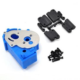 RPM R/C Products RPM73615 Hybrid Blue Gearbox Housing & Rear Mounts for 2wd Vehicles
