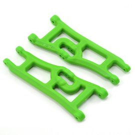 RPM R/C Products RPM70664  Green Wide Front A-arms for e-Rustler & Stampede 2wd