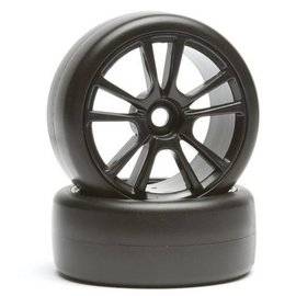 Team Associated ASC31467 Apex Super Drift Wheel/Tire Combo- Black