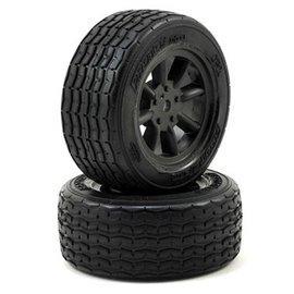 Protoform PRM10140-18 VTA Front Tires (26mm) Mounted on Black Wheels (2)