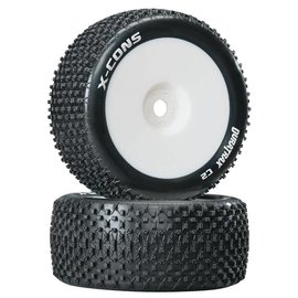 Duratrax DTXC3660 X-Cons 1/8 Truggy Tire C2 Mounted Zero Offset (2)