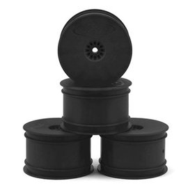 DE Racing DER-SB4-ARB Black Rear Buggy Wheels B6-B64, TLR 22-22-4 (4)