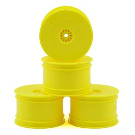 DE Racing DER-SB4-ARY  Yellow Rear Buggy Wheels B6-B64, TLR 22-22-4 (4)