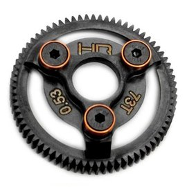 HOT RACING HRASTE873  48P 73T Orange Steel Spur Gear Rustler Slash Bandit Stampede