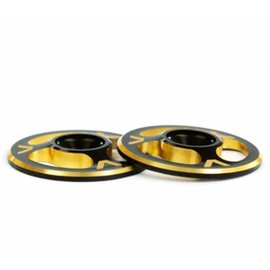 Avid RC AV1060-DGLD  Triad Wing Buttons Dual Black / Gold M3 (2)