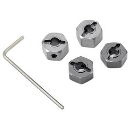 STRC SPTST3654-12GM  Gun Metal 12mm Aluminum Lock Pin Style Wheel Hex Set (4)