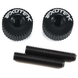 Exotek Racing EXO1191BLK  Black Twist Nuts For M3 Thread