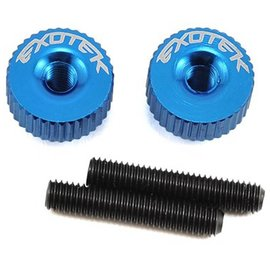 Exotek Racing EXO1191MB  Medium Blue Twist Nuts For M3 Thread