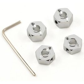 STRC SPTST3654-12S  Silver 12mm Aluminum Lock Pin Style Wheel Hex Set (4)
