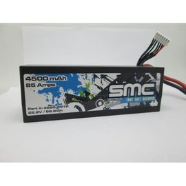 SMC SMC4585-6S1PD True Spec Premium 22.2V 4500mAh 90C LIpo with Deans Plug