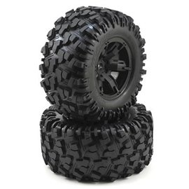 Traxxas TRA7772X X-Maxx Pre-Mounted Tires & Wheels (2) (8S Rated)