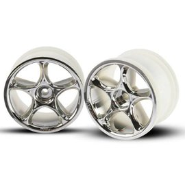 """Traxxas TRA2472  Chrome Bandit Rear Tracer 2.2"""" Buggy Wheels (2) Pins"""