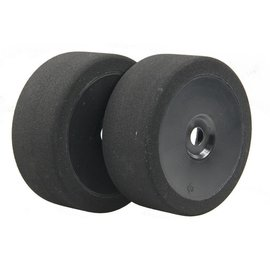 BSR BSRC8025B 1/8 25 Shore 17mm Hex Mounted GT Foam Tire On Black Dish Wheels (2)