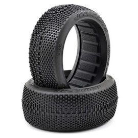 J Concepts JCO3132-02  Green Super Soft Triple Dees 1/8 Buggy Tires (2)