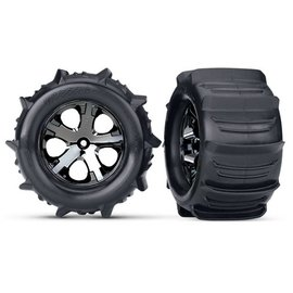 "Traxxas TRA3689 Paddle Tires 2.8"" Pre-Mounted w/All-Star Electric Rear Wheels (2)"