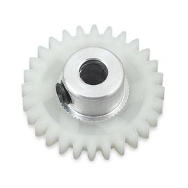 175RC 175-10028  28T White Polypro Hybrid 48P Pinion Gear (3.17mm Bore)