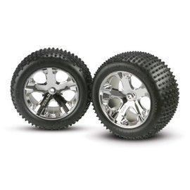 """Traxxas TRA3770 Alias Tires on All Star Chrome Wheels 2.8"""" (2)"""